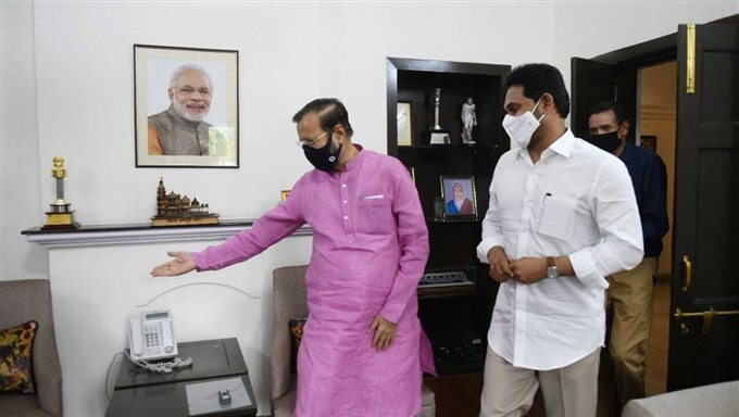 AP CM Jagan Mohan Reddy Meets Union Minister Javadekar Shekawath