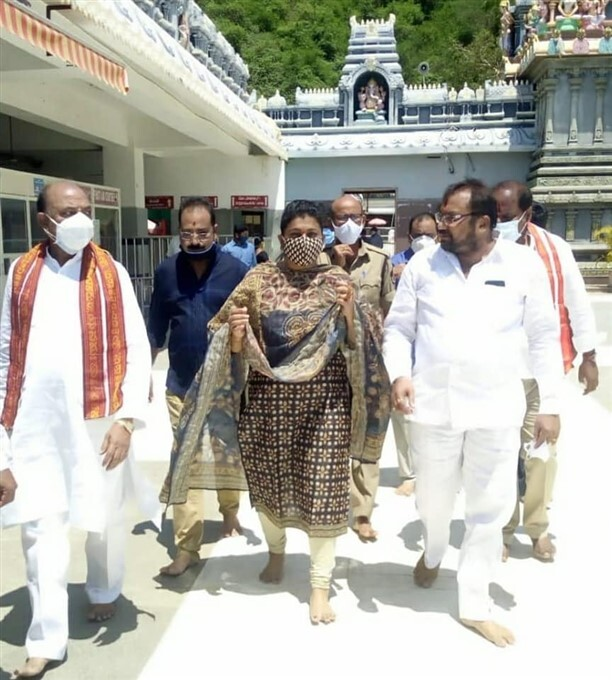 APIIC Chairperson Roja Visits Kanaka Durga Temple In Vijayawada