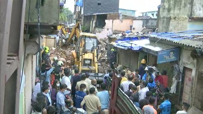 Building Collapsed At Malad In Mumbai