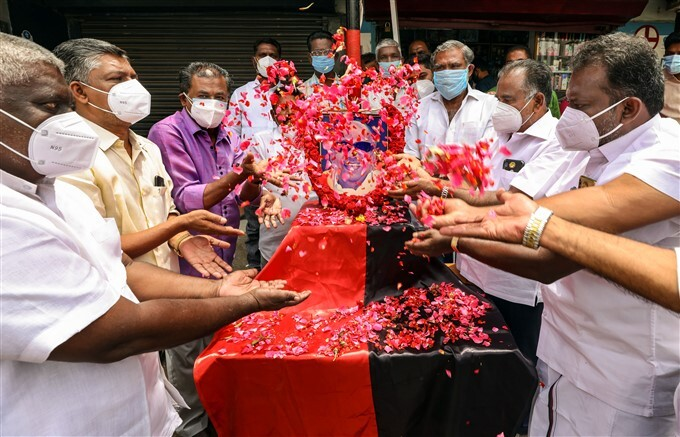 CM MK Stalin And DMK Leaders Pay Tribute To M Karunanidhi On His Birth Anniversary
