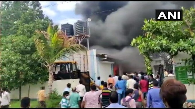 Fire Breaks Out At A Sanitizer Factory In Pune