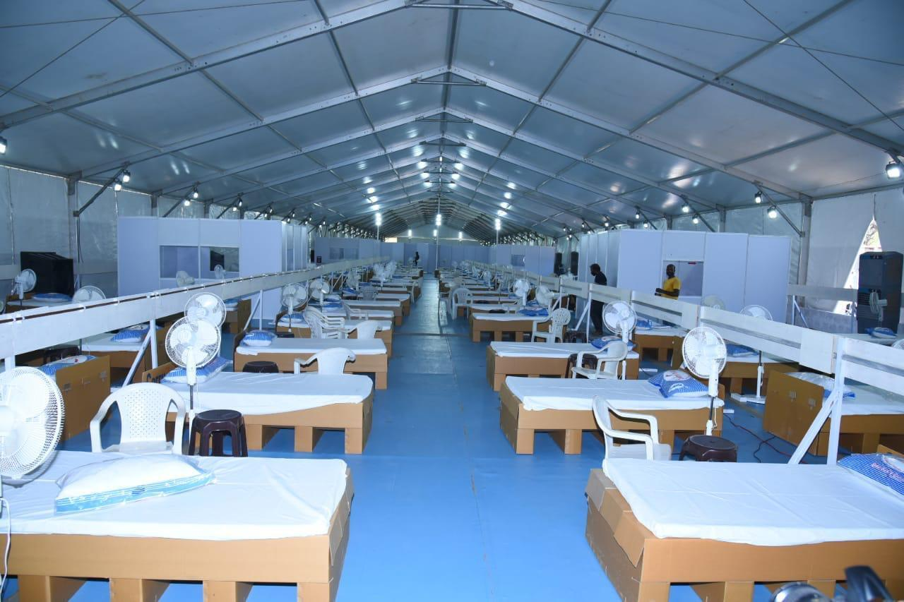 German Hanger Set Up 300-bed COVID Facility In Anantapur