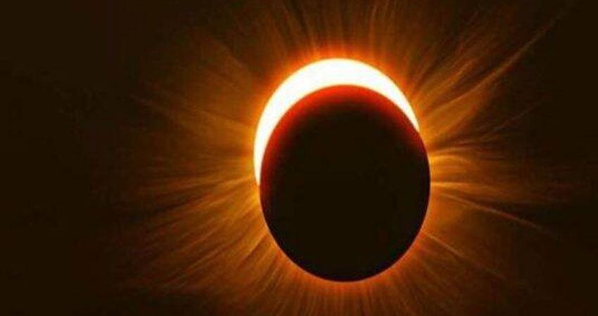तस्वीरों में देखिए इस साल के पहले सूर्य ग्रहण का नजारा