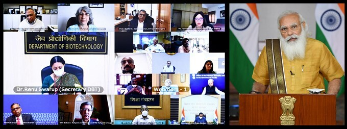 PM Narendra Modi Addresses CSIR Meeting Via Video Conferencing, In Delhi