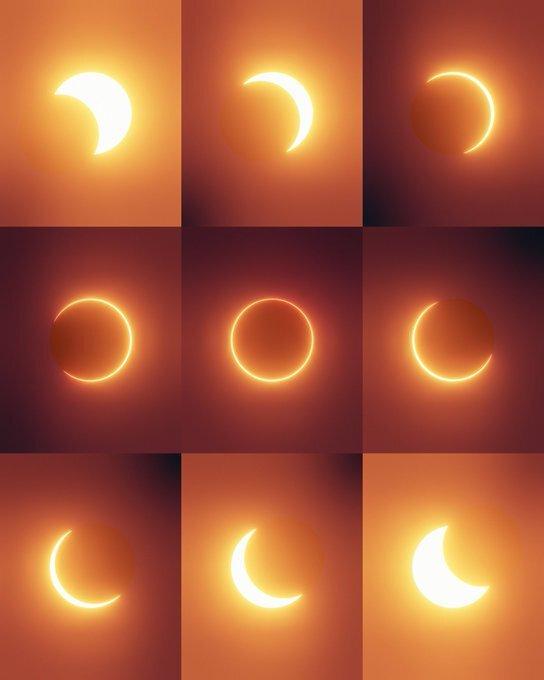 Solar Eclipse Across World 2021