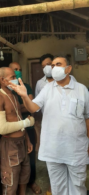 Suvendu Adhikari On Behalf Of BJP Helps Family's Of Party Supporter Killed During Post Poll Violence