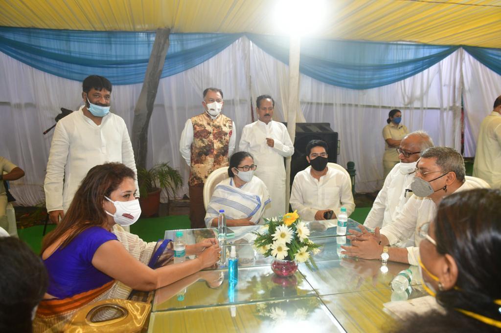 AITC MPs Meeting At Shri Sukhendu Sekhar Roy's Residence