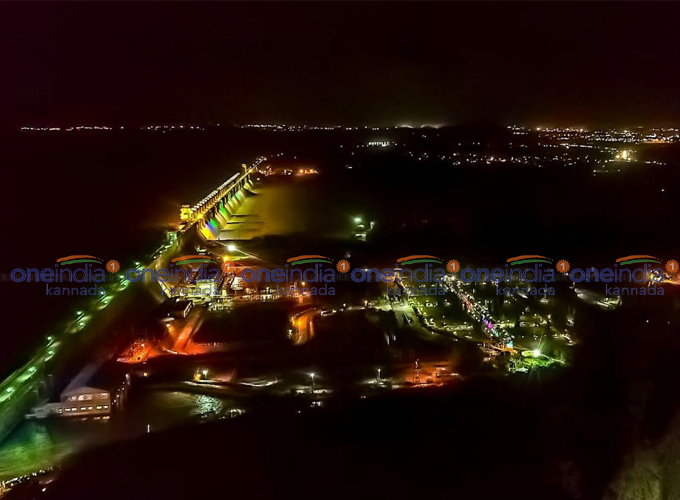 Hospet Tungabhadra Dam Lighting During Night