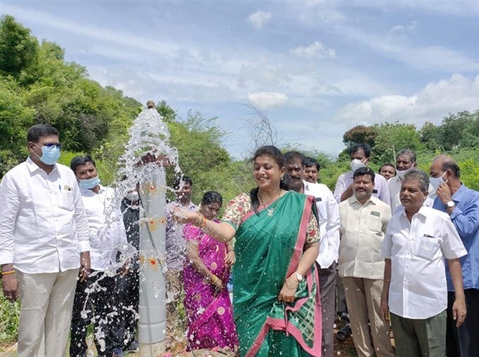 MLA Roja Inaugurates Few Developmental Works In Her Constituency, Nagari