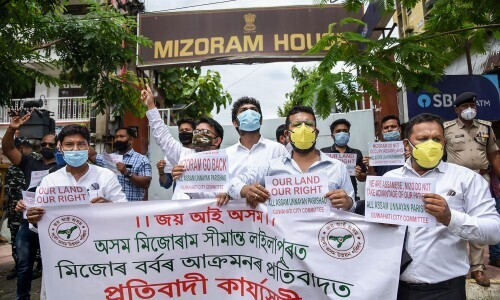 Poster Over Assam- Mizoram Border Dispute