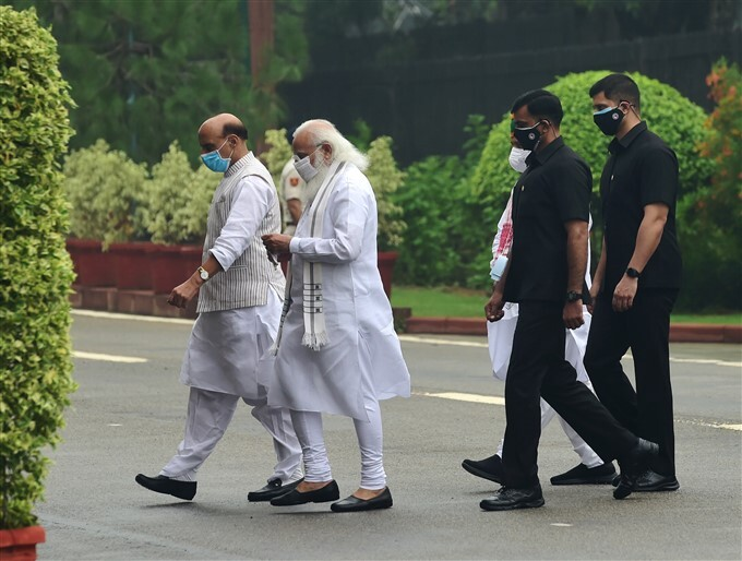 Monsoon Session Of Parliament, In New Delhi, 2021