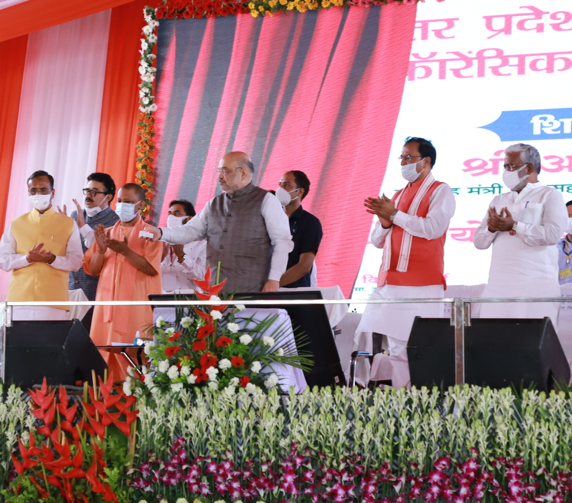 तस्वीरों में देखिए केंद्रीय गृहमंत्री अमित शाह के उत्तर प्रदेश का दौरा
