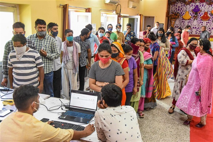 Citizens Receive COVID-19 Vaccination Across India,17/08/2021