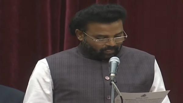 Karnataka Cabinet Ministers Oath Taking Ceremony At Raj Bhavan In Bengaluru