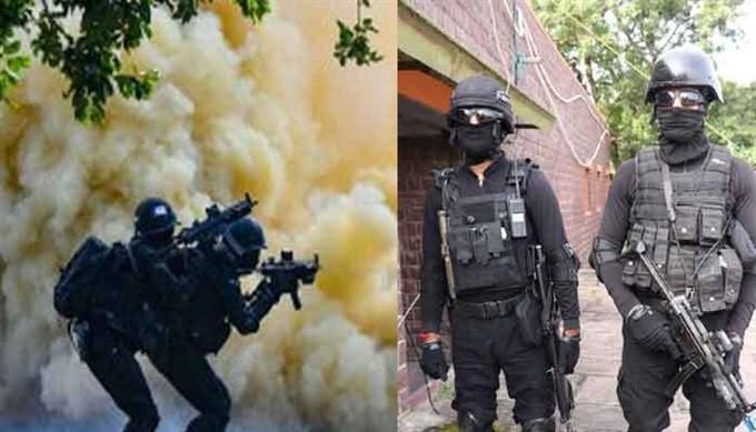 NSG Commandos Perform A Mock Drill In Bhopal