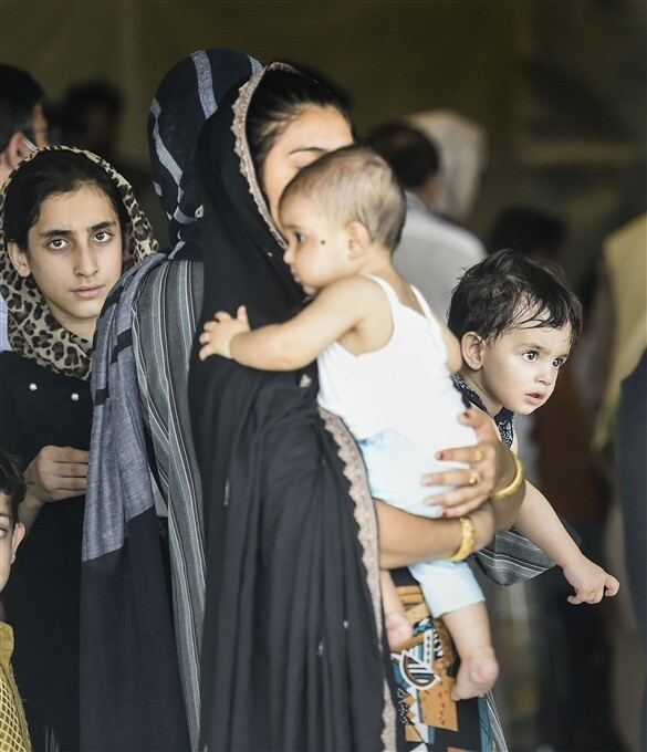People Who Were Stranded In Afghanistan Arrive At Hindan Air Force Station, In Ghaziabad
