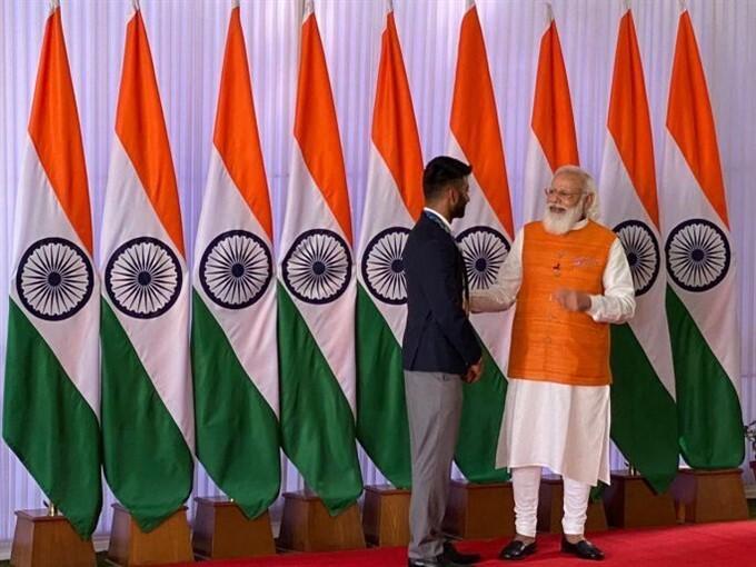 PM Narendra Modi With India's Tokyo Olympics Contingent In Delhi