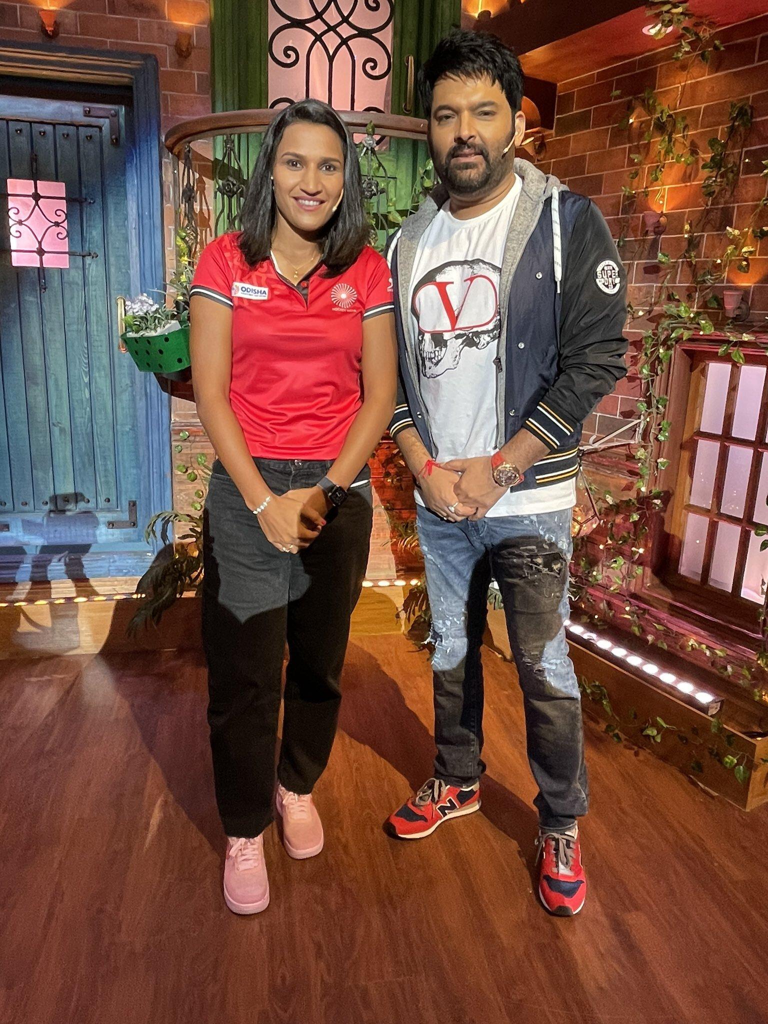 The Kapil Sharma Show: कपिल के शो में पहुंचे  रानी रामपाल और मनप्रीत सिंह, मचा धमाल, देखें Pics