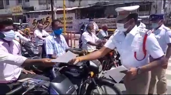 Traffic Police In Karur Spreads Road Safety Awareness