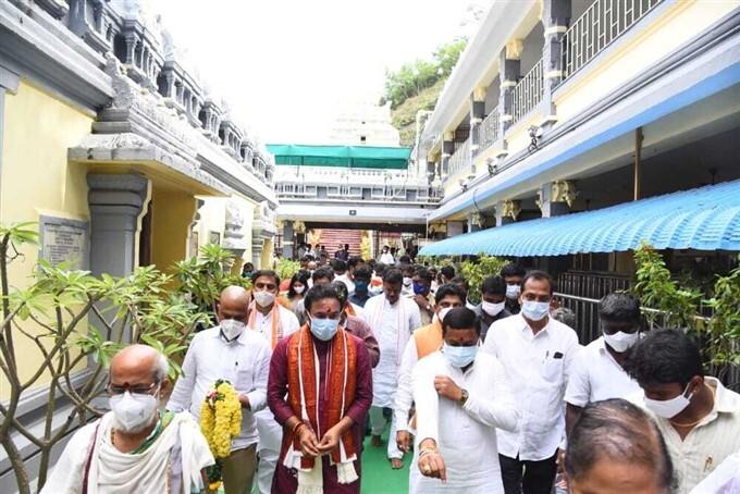 Union Minister Kishan Reddy Visits Tirupati Tirumala