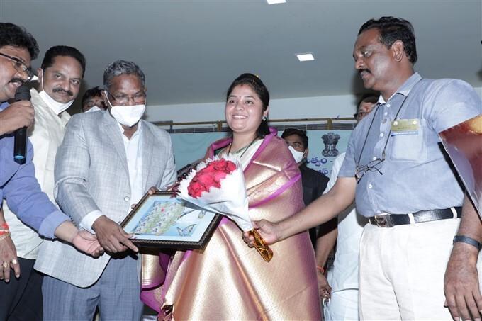 AP Deputy CM Pushpa Srivani Unveils Bobbili Veena Postal Stamp