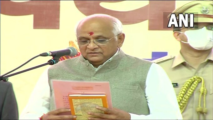 Bhupendra Patel Sworn-in As 17th Chief Minister Of Gujarat