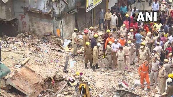 Four-storey Building Collapses In Sabzi Mandi, New Delhi