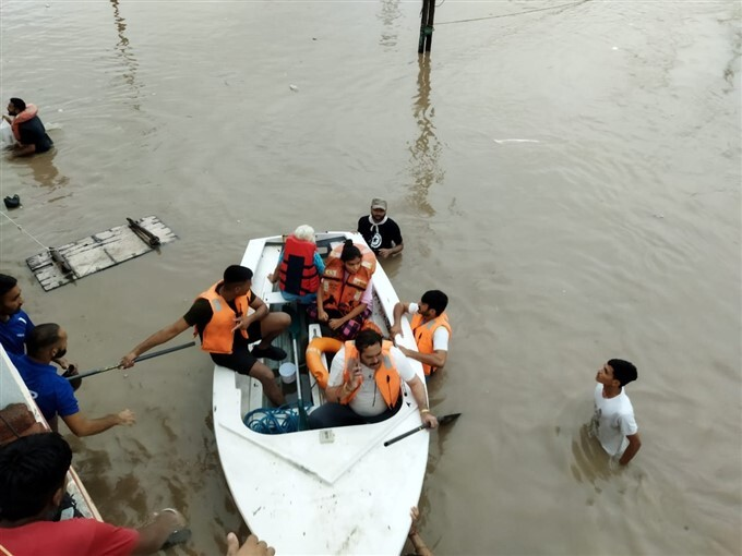 Heavy Rain Lashes And Caused Flooding In Rajkot, Gujarat