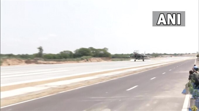 Inauguration Of Emergency Field Landing At National Highway In Jalore, Rajasthan