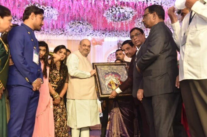 Leaders During Union Minister Prahlad Joshi's Daughter Marriage