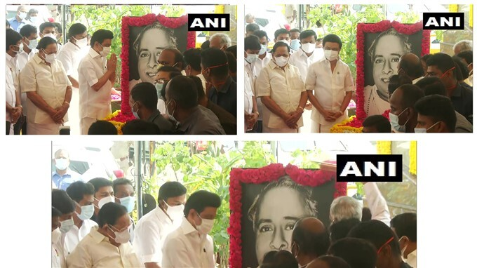 Leaders Pays Tribute To DMK Founder CN Annadurai On His 113th Birth Anniversary.