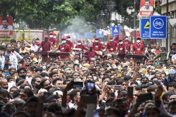 Delhi CM Arvind Kejriwal Inaugurates Redeveloped Chandni Chowk Market In New Delhi