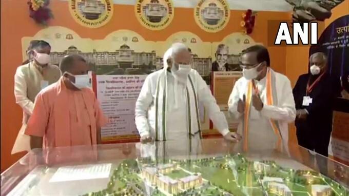 PM Modi Lays Foundation Stone Of Raja Mahendra Pratap Singh State University In Aligarh, UP