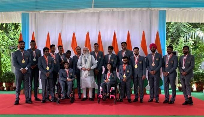 Prime Minister Narendra Modi Meets 2020 Tokyo Paralympics Participates