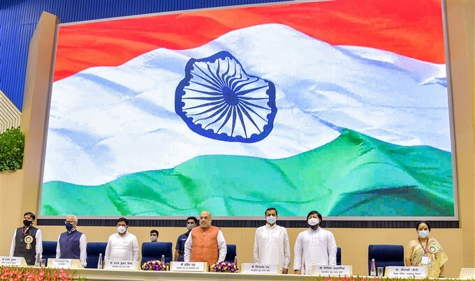 HM Amit Shah During Hindi Diwas Samaroh 2021