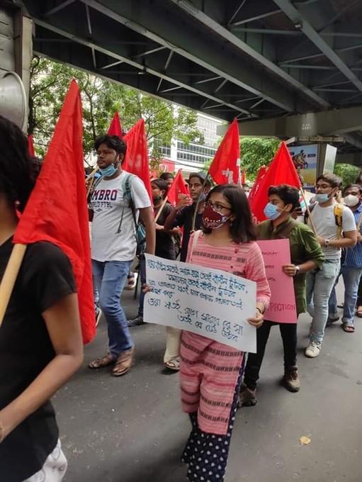 Various Student Organizations Protest Demanding Resignation Of Vice-Chancellor Of Visva Bharati