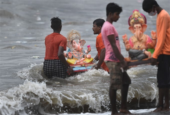 Immersion Of Lord Ganesha Idol Across India, 15/09/2021