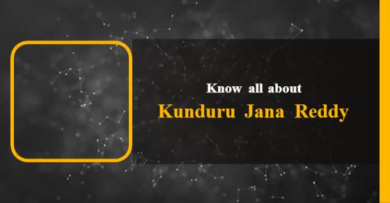 Kunduru Jana Reddy: Age, Biography, Education, Wife, Caste, Net
